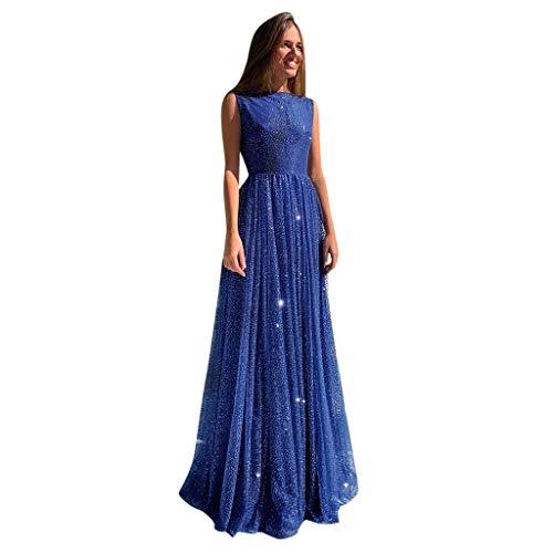 Riou Damen Brautkleider Hochzeitskleider Lang Weiß Sexy V-Ausschnitt Rückenfrei Spitzenkleid für Brautjungfer Hochzeit Abend Party Standesam Kleider (Blau k, (Günstige Pin Up Girl Kostüme)