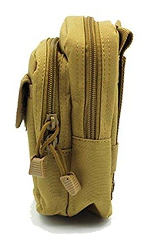 Lawevan 900D unisex Mini Packs Taille Wandern Taille Packs Handy Taille  Taschen Kartentaschen Khaki 3b5bc0c196