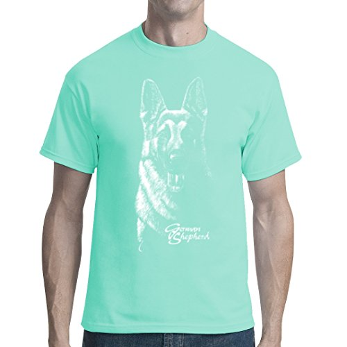 Fun unisex T-Shirt - Hunde T-Shirt: German Shepherd by Im-Shirt - Mint L (Hund Mint)