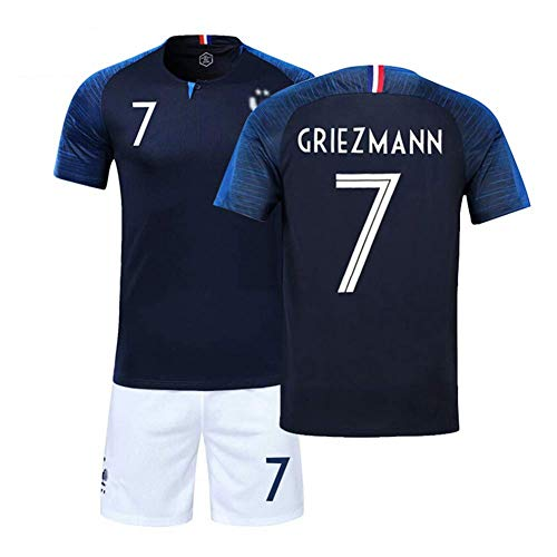 new product 89fd2 29fc2 LSY Boy France Soccer Jersey 2018 World Cup France 2 Star Child Sports  Soccer Jerseys Camiseta de fútbol y Shor,N°7,M
