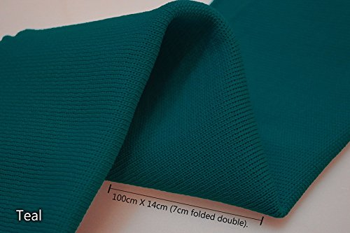 Neotrims - Polsino in maglia a costine, in poliestere, look