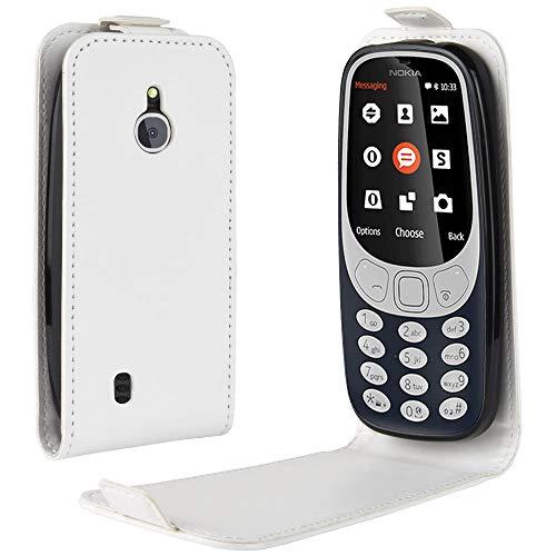 Oujiet-eu CN Custodia per Nokia 3310 3G 4G Custodia Flip in Pelle PU + Cover Case in Silicone Fissa Protezione 4