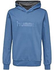 Hummel Kapuzenpullover Jungen & Mädchen - JUNIOR V KESS HOODIE AW17 - Trainingspulli langarm - Sweater Baumwolle für Sport & Freizeit - Longsleeve mit Kapuze