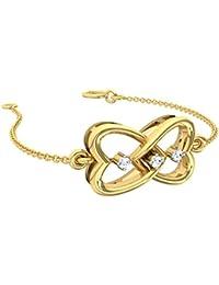 TBZ - The Original 18k Yellow Gold and Diamond Charm Bracelet