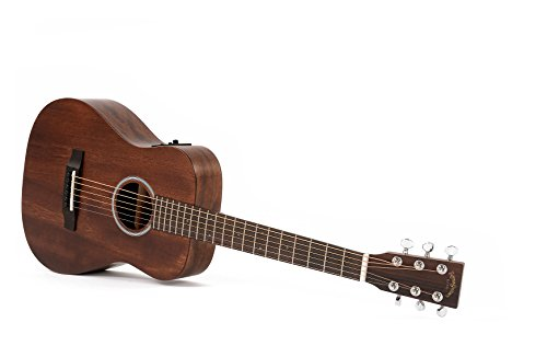 Travel / Reise-Gitarre Sigma TM-15E mit Fishman Isys Tonabnehmer und integriertem Stimmgerät + Gigbag