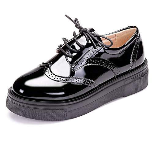 t Zapatos Con Cordones De Charol Para Mujer Zapatos Oxford Zapatos De Plataforma Retro Zapatos De Trabajo Brogue