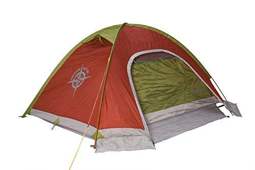 Columbus Tenda da Campeggio Danubio 2 Verde/Rosso