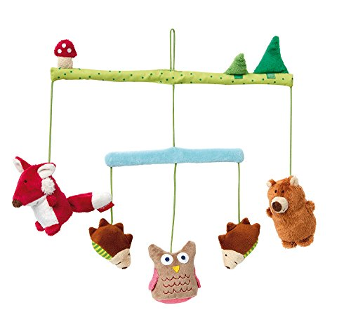 sigikid, Mädchen und Jungen, Mobile, Wald PlayQ Wuller Wullawoods, Mehrfarbig, 41510 (Kinderbett Für Eule Baby Mobile)