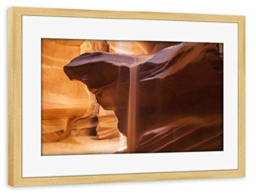 artboxONE Poster mit Rahmen Kiefer 30x20 cm Antelope Canyon Sanddusche von Melanie Viola - gerahmtes Poster -