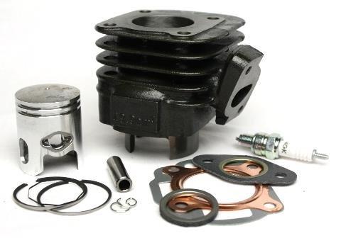 50ccm Zylinder Kit inkl. Zündkerze für Minarelli AC, 10mm Kolbenbolzen, Adly, Aprilia Gulliver, SR, Benelli 391, Beta Ark, CPI Hussar, Malaguti, Yamaha 50