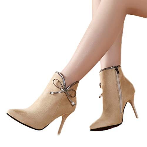 TianWlio Stiefel Frauen Herbst Winter Schuhe Stiefeletten Boots Paar England Vintage Stiefel Motorradstiefel Militärstiefel Khaki 37