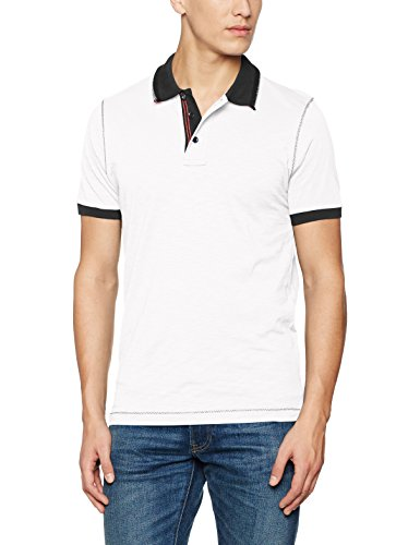 James & Nicholson Herren Poloshirt Men´s Urban Polo Weiß (White-Navy), X-Large (Polo Shirt Jersey Mens)