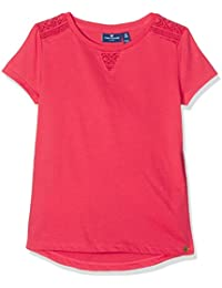TOM TAILOR Kids Mädchen T-Shirt Basic Tee with Lace Inserts