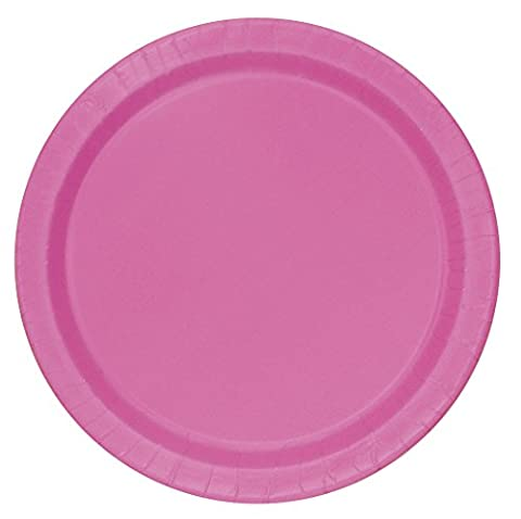 18cm Hot Pink Party Plates