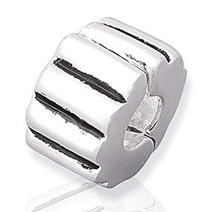 925 Silber Stopper von Unique für Bead Armbänder mit Gewinde BX0002