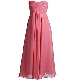 Fashion Plaza A-line Chiffon Mädchen Kleid Blumenmädchenkleid K0083