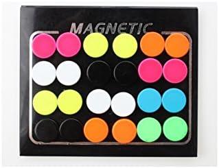 Surker 24piezas 6mm color Candy imán Circle Stud Pendientes Pendientes magnéticos BJ00188A