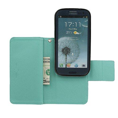 Hülle für Samsung S3, xhorizon FX Prämie Leder Folio Case [Brieftasche][Magnetisch abnehmbar] Uhrarmband Geldbeutel Flip Vogel Tasche Hülle für Samsung Galaxy S3 i9300 mit einer Auto Einfassungs Halte Minze mit Schwarz Auto Einfassung Halter
