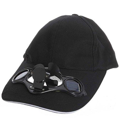 TOOGOO(R) El sombrero de beisbol Negro de Ventilador accionado solar del aire...