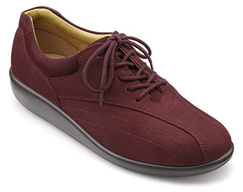 Hotter - Zapatos de Mujer con Cordones Extra Anchos, Color Rojo, Talla 37 EU