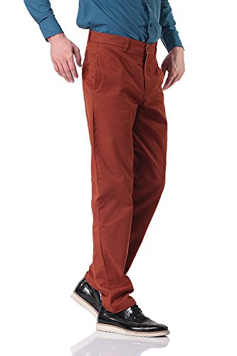 Pau1Hami1ton PH-15 Casual Cotton Trousers straight Pantaloni da uomo Arancione