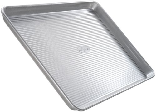 USA Pan Bakeware Quarter Sheet Pan, Warp Resistant Nonstick Backblech, Made in den USA aus Aluminium Stahl -
