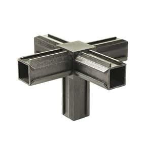 Gah-Alberts 426484 Lot de 10 raccords de tubes croisillons avec une sortie supplémentaire Plastique Noir 30 x 30 x 2 mm