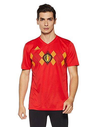 adidas Herren Belgien Heimtrikot, Vivred/Power red/Bold Gold, XS