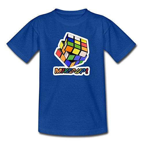 Spreadshirt Rubik's Cube Zauberwürfel Mixed Up Teenager T-Shirt, 152/164 (12-14 Jahre), Royalblau (80er-jahre-spiele-t-shirts)