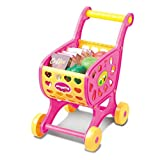 Toy Shopping Trolley for Toddlers, JYC 2018 Shopping Carts Fruit Vegetable Pretend Play Children Kid Educational Toy Christmas gift (Pink)
