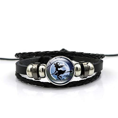 KAIBUPHT Künstlicher Edelstein Armband Handgemachte Halloween Hexe Zeit Gem Armband Mode Armband Hand Link Day ()
