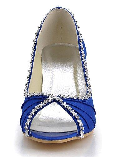 WSS 2016 Chaussures de mariage-Noir / Bleu / Jaune / Rose / Violet / Rouge / Blanc / Argent / Or / Amande / Beige-Mariage / Habillé / Soirée & 3in-3 3/4in-yellow