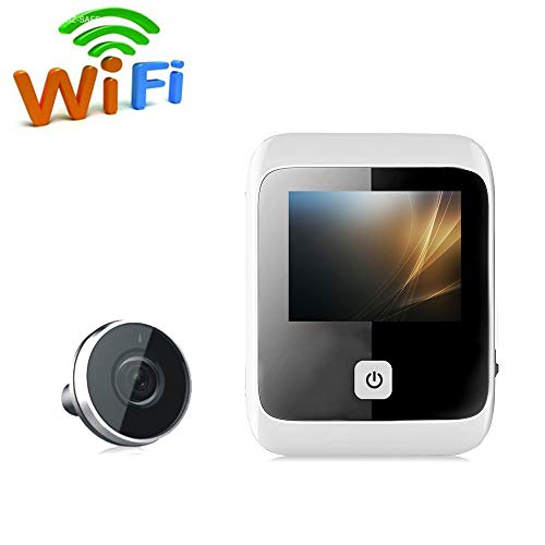 LMtt Video Doorbell,3-Zoll-High-Definition-LCD-Home-Video Doorbell SF530S Smart 125 Degree Door Peephole Camera Outdoor Camera Anti-Diebstahlsicherheit Peephole