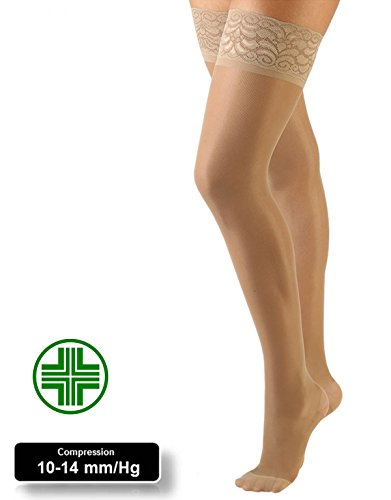 MEDICAL SUPPORT HOLD UP | 10-14 mm/Hg GRADUATED COMPRESSION STOCKING | S, M, L , XL | BLACK, SKIN | MADE IN ITALY