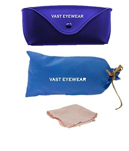 Vast Fashion Combo Of 2 UV Protection Premium Wayfarer And Aviator Sunglasses (COMBOB23C4_3025SILBLU)
