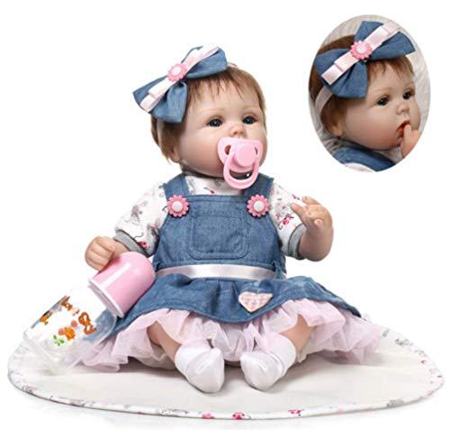 ZIYIUI Real Life Reborn Baby Dolls 17' Suave Vinilo de Silicona Reborn Lifelike Bebé Recién Nacido Regalo de Juguete bebe
