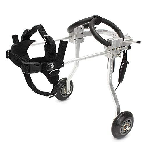 PET WHEELCHAIR Justierbarer Haustier-Rollstuhl Hinterbeine Behinderter Rollstuhl Behinderter Hunderückenbein-Rehabilitations-Haustier-Fahrrad (Extra Kleine Pet Kostüme)