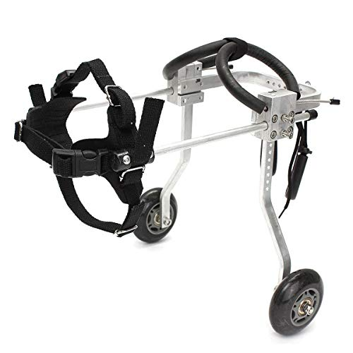 PET WHEELCHAIR Justierbarer Haustier-Rollstuhl Hinterbeine Behinderter Rollstuhl Behinderter Hunderückenbein-Rehabilitations-Haustier-Fahrrad