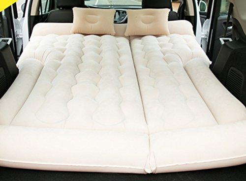 Schütteln Van (HAOXIAOZI Aufblasbares Bett SUV Auto Bett Rear Seat Schlafmatte Outdoor Travel Doppelbett,Beige)