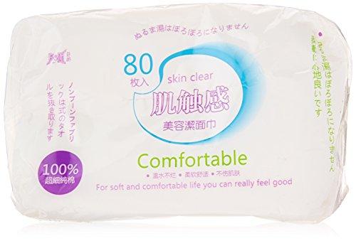 Sourcingmap Disques démaquillants visage, blanc 135 g