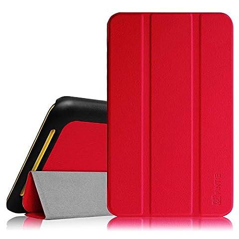 Fintie Asus ME181CX Hülle Case - Schlank Smart Shell Cover Schutzhülle Etui Tasche für Asus ME181CX ProSieben Entertainment Pad 20,3 cm(8 Zoll) Tablet-PC (Asus MeMO Pad 8 ME181C), Rot