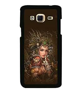 printtech Robot Fairy Girl Design Back Case Cover for Samsung Galaxy J3 Pro
