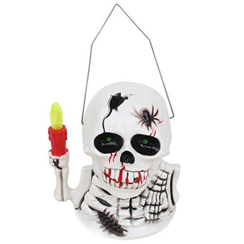 Blue Vessel Halloween Kürbis Lantern mit Spooky Scary Sounds Lantern Light Dekoration tragbare Schädel Nachlicht Beleuchtung Skeleton (Skull) (Scary Halloween Kürbisse)