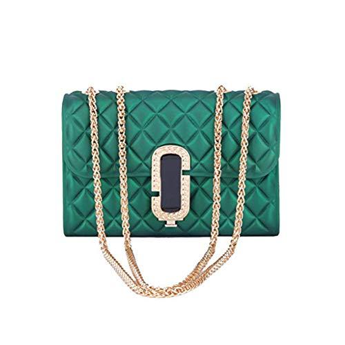Schultertaschen 2019 Mode Damen Jelly Bag Lingge Kette Tasche Classic Dinner Candy-farbigen Translucent PVC Wasserdichte