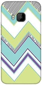 Snoogg Zig Zag Design 2368 Designer Protective Back Case Cover For HTC M9