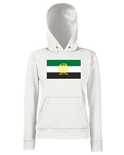 T-Shirtshock - Sweats a capuche Femme TM0147 Afghanistan flag Blanc