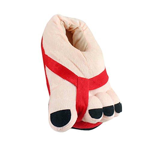 YOUJIA Damen Große Füße Warme Weiche Hausschuhe Plüsch Toes Winterschuhe Lustige Pantoffeln Witzige Schuhe, (Lustige Schuhe Füße)