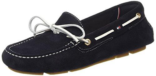 Tommy Hilfiger K1285ENDRA 2B, Chaussures bateau femme - Bleu - Bleu nuit (403), 40