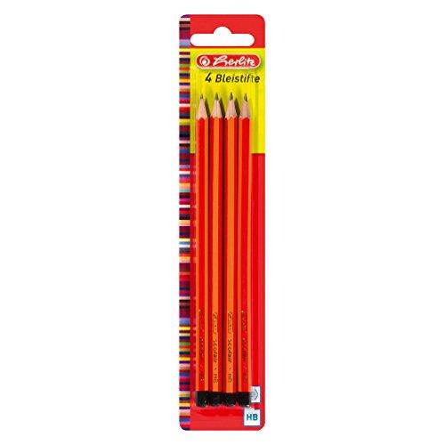 Herlitz Bleistifte Scolair, HB, bruchsichere Mine, 4 Stück auf Blisterkarte