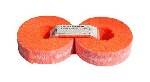 Patchsee ID-Scratch, Klett Kabelbinder, Ersatzpackung 2 Rollen je 2,50 m, orange (2 Klett-rollen)
